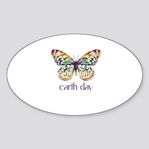 Earth Day - Butterfly Oval Sticker